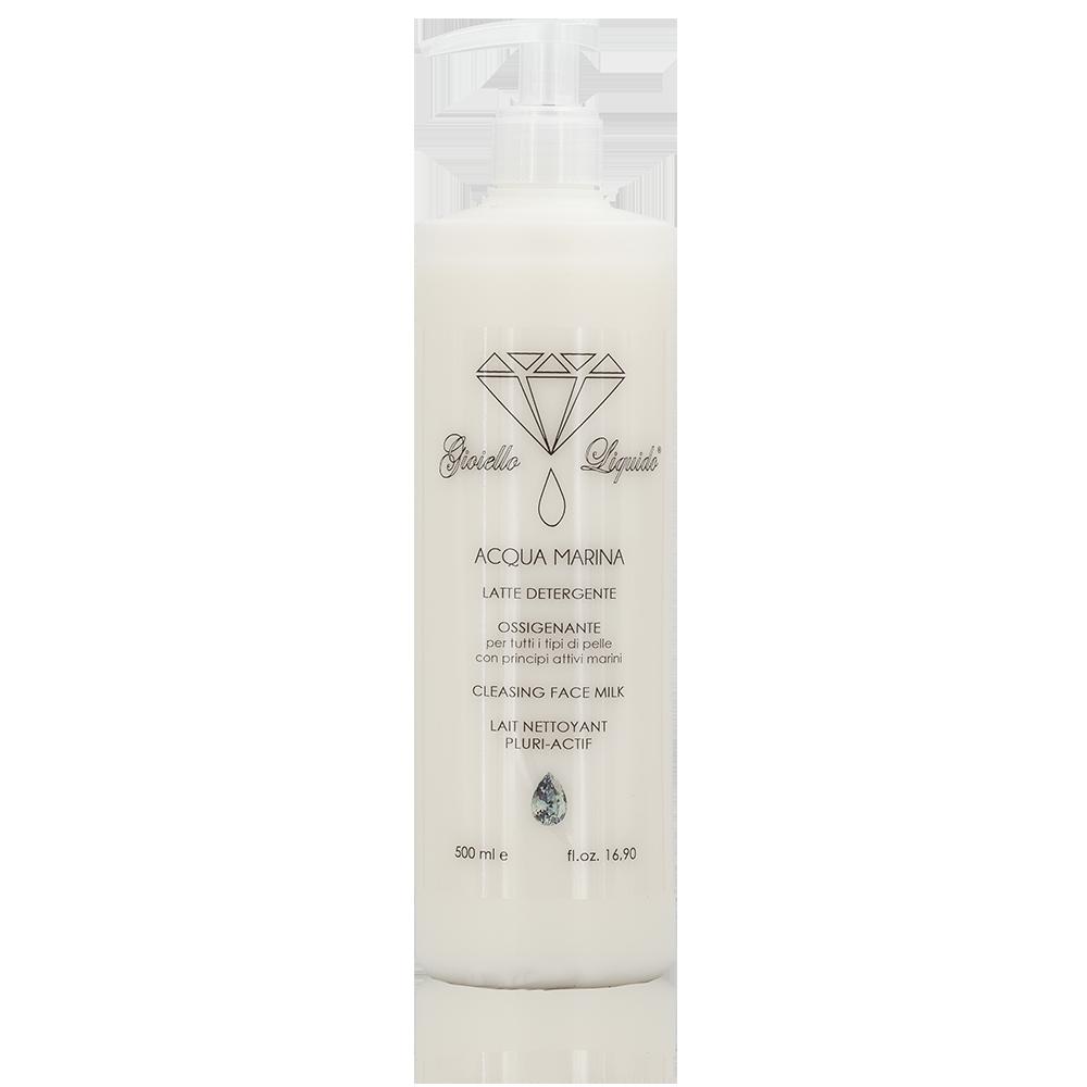 Latte Detergente Viso Linea Acqua Marina con Acido Ialuronico, Macroalga marina bio certificata e Sodium PCA